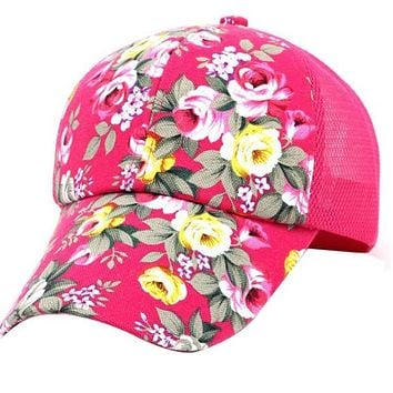 New Arrival high quality fashion Women cap Colorful flower embroidery Baseball Cap snapback Adjustable Sunhat casquette cap