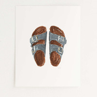 Sandals Outfit Of The Day Art Print - Urban Outfitters