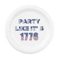 Party Like It's 1776 Paper Plate - 4th of July