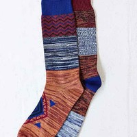 Mismatched Boot Sock- Dark Orange One
