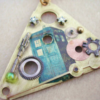 "Doctor Who Steampunk Necklace ""26 June 2010"""