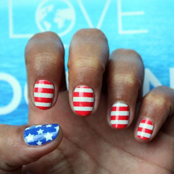 Stars and Stripes - Nail Art Decals