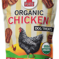 Plato Pet Organic Chicken Strips Dog Treats 16 oz