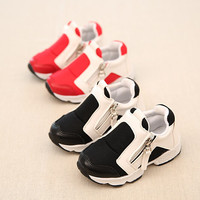 2017 European fashion zip Cool children shoes hot sales casual kids sneakers cute Breathable children boots boys girls shoes