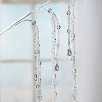 Cascading Acrylic Crystal Bead and Teardrop Spray - Picks and Stems - Floral Supplies - Craft Supplies