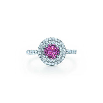 Tiffany & Co. - Tiffany Soleste®:Pink Sapphire andDiamond Ring