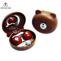 HNXZXB  Mini Cartoon Contact  Lenses  Storage Box Cute Contact  lens Case  Box  Eyes Care Kit Holder Washer Cleaner Container