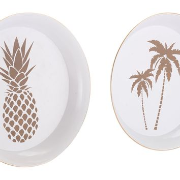 Palm Tree & Pineapple Tray Set