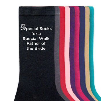 Special Socks for a Special Walk - Father of the Bride Wedding Socks