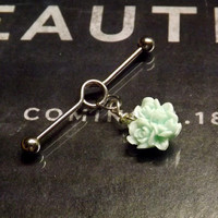 "Body Jewelry Dangle Industrial Barbell Bar 14 gauge Length 1&1/2"" (38mm)"