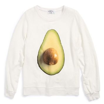 Girl's Wildfox 'Avocado - Baggy Beach Jumper' Graphic Sweatshirt