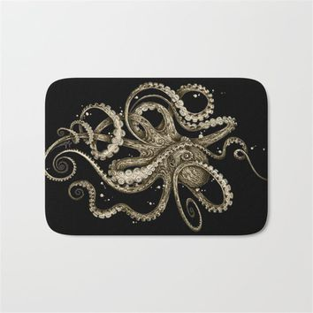 Marine life Front of Entrance Door Mats Colorfast Cartoon Octopus Carpets Kids Bedroom Bedside Foot Pads Decor for Living Room