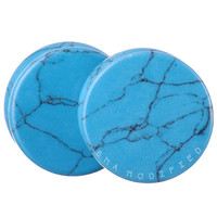 Turquoise Synthetic Stone Plugs