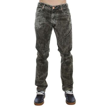 PEAP78W ACHT Green Wash Cotton Stretch Slim Fit Jeans