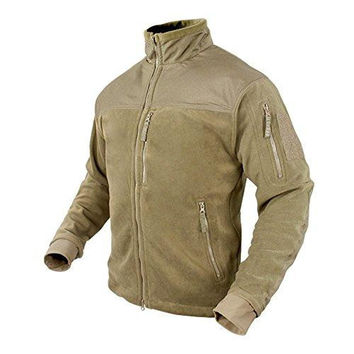 Alpha Fleece Jacket Color- Tan (XX-Large)