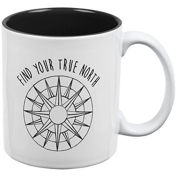 Hiking Outdoors Find Your True North All Over Coffee Mug