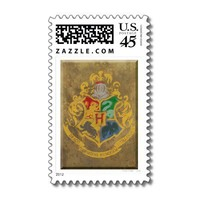 Hogwarts Crest HPE6 Stamps from Zazzle.com