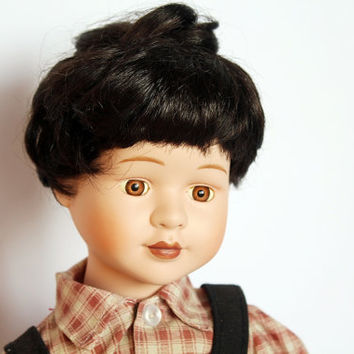 Vintage doll, antique doll, bisque face doll, boy doll