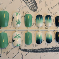 Artificial Nails  Caribbean Cruise   by NextLevelNails on Etsy