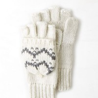 AEO Women's Printed Flip Mitt (Cream)