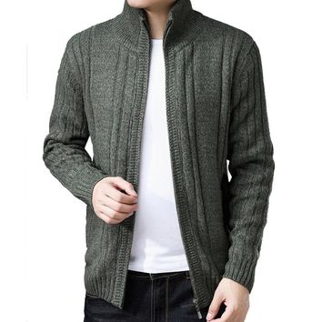 Men's Thick Wool Cardigan