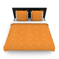 "Julia Grifol ""Orange Flowers"" Woven Duvet"