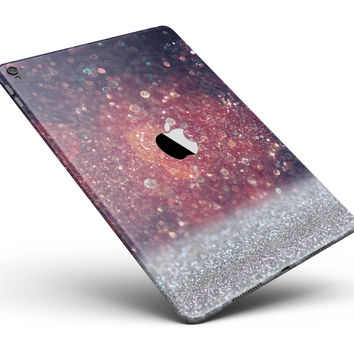 """Red and Blue Glowing Orbs with Silver Sparkle Full Body Skin for the iPad Pro (12.9"""" or 9.7"""" available)"""