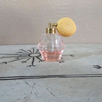 Pink Glass Perfume Atomizer Vintage Atomizer Perfume Bottle Glass Bottle Pink Perfume Bottle Made in Japan