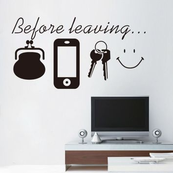 Reminder vinyl quotes don't forget door wall art sticker decal kitchen lounge home decor Daily poster Spanish English Mural