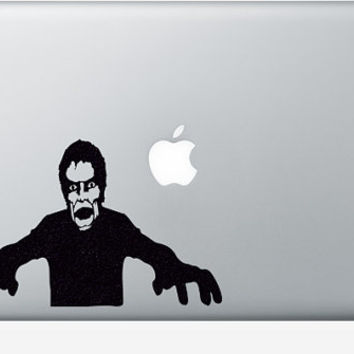 Zombie Velvet Decal - The Walking Dead Laptop Sticker - Zombies Mac Decal - Light Switch Decor - Zombie Gift - Zombie Apocalypse Wall Art