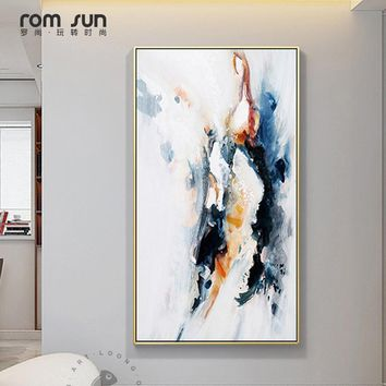 HD Modern  Splash Canvas Painting New Chinese Style Posters And Prints Big Size Wall Art For Living Room Home Cuadros Decoracion