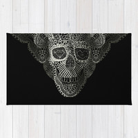 Lace Skull Area & Throw Rug by Ali GULEC