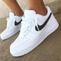 Nike Air Force 1 Classic Fashion New White Low Couple Running Leisure Shoes