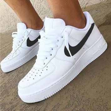 Nike Air Force 1 Classic Fashion New White Low Couple Running Le ffb0cf6094