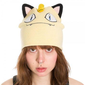 Pokemon - Meowth Big Face Beanie