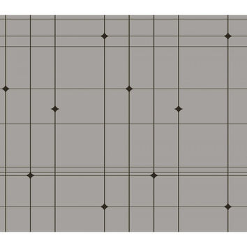 Sample Thermoscad Self Adhesive Wallpaper in Grey and Brown by Bobby Berk for Tempaper