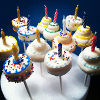Birthday Candle Cake - Cake Pop