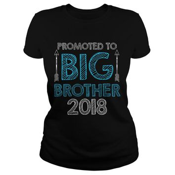 Promoted To Big Brother Shirt Premium Fitted Ladies Tee