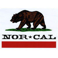 Nor Cal Republic Sticker White One Size For Men 17979815001