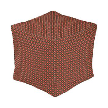 Dark geometric pattern outdoor pouf