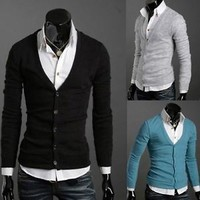 Jeansian Mens Cardigan Knitwear Sweater Shirts Tops 10 Colors 4 Sizes  8823