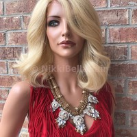 Natural Blonde Short Lace Front Wig -Annie
