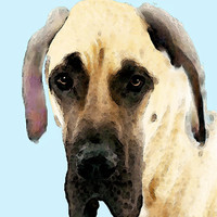 Fawn Great Dane Dog Art Painting