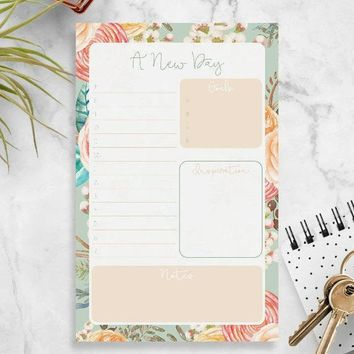 Daily Desk Planner Pad - School Supplies - Daily Notepad Planner - Daily Planner Deskpad - Daily Agenda Pad