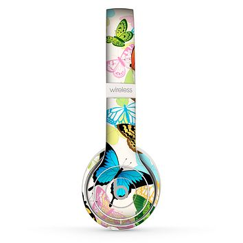 The Colorful Vector Butterflies Skin Set for the Beats by Dre Solo 2 Wireless Headphones