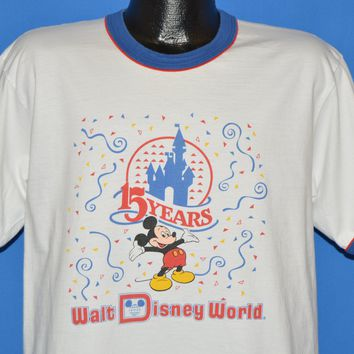 80s Walt Disney World 15 Year Anniversary t-shirt Large