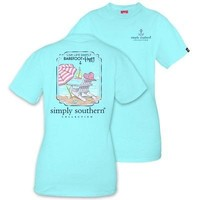 "Simply Southern ""Barefoot and Happy"" T-Shirt"