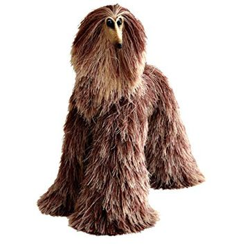 Afghan Hound Collectible Brown Beige Poseable Miniature Cute Plush Art Doll Needle Felted Dog