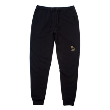 OWL LOGO SWEATPANTS - BLACK