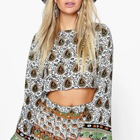 Sia Border Print Short Co-Ord Set | Boohoo
